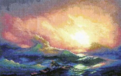 Вышивка моря схемы